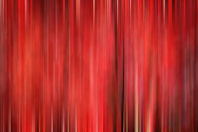 Photograph - Red Maple Trees Digital Abstracts Motion Blur by Rich Franco