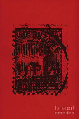 Red Mark Art Print by Brian Drake - Printscapes