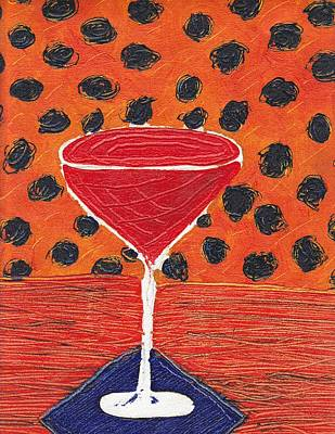 Martini Royalty-Free and Rights-Managed Images - Red Martini by Jen Lynn Arnold