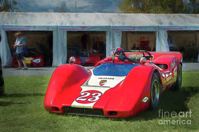 Photograph - Red Mclaren M6b by Stuart Row