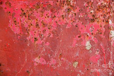 Red Metal Grunge Background Art Print by Simon Bratt Photography LRPS