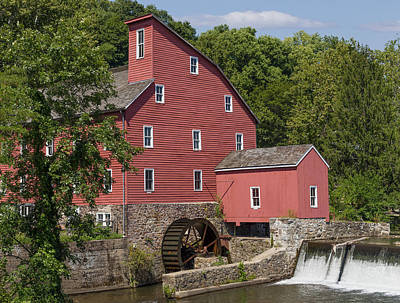 Red Mill At Clinton Art Print by Capt Gerry Hare