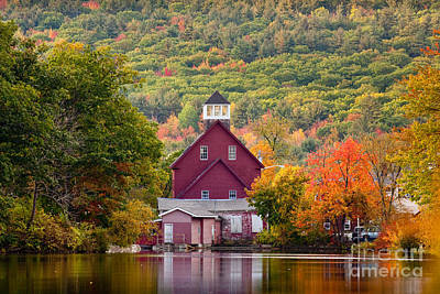 Photograph - Red Mill In Autumn by Susan Cole Kelly