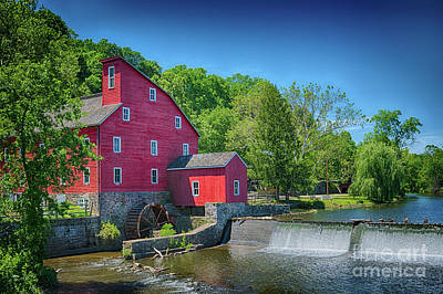 Spruce Goose Photograph - Red Mill Of Clinton New Jersey by Priscilla Burgers