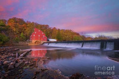 Red Mill Swirls  Art Print by Michael Ver Sprill