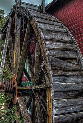 Red Mill Wheel 2007 Art Print