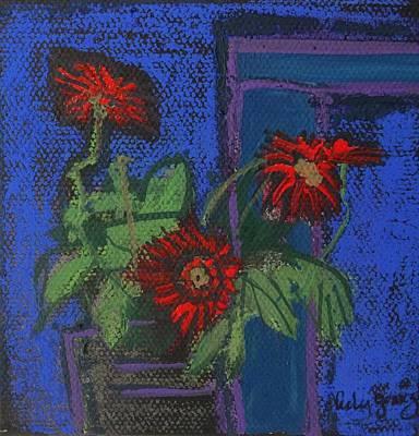 Red Mini Surprise Art Print by Jo Anne Neely Gomez