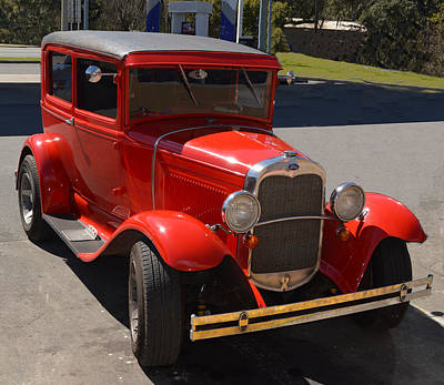 Photograph - Red Model A Ford - Restored by rd Erickson