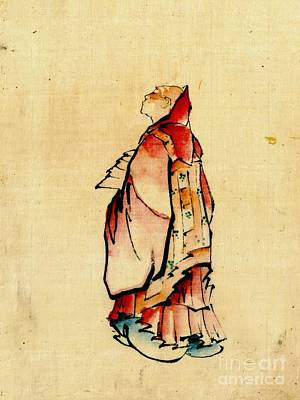 Red Monk 1840 Art Print by Padre Art