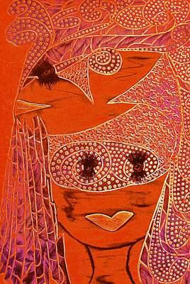 Archetype Painting - Red Monkey Goddess by Tetka Rhu