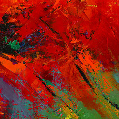 Abstractions Painting - Red Mood by Elise Palmigiani
