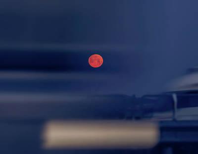 Panning Photograph - Red Moon by Hyuntae Kim