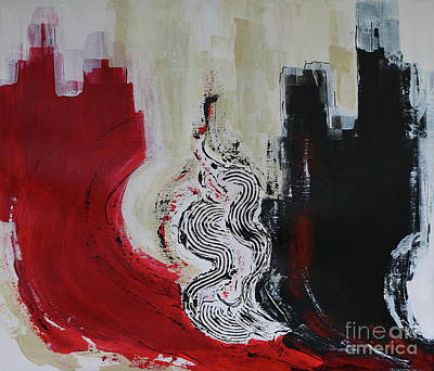 Red Moon Iv - Abstract Painting Original by Christiane Schulze Art And Photography