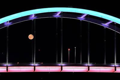 Photograph - Red Moon Rising by Carol Montoya