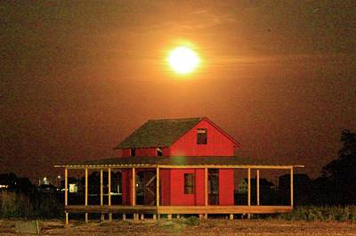 Photograph - Red Moon Rising by Catie Canetti