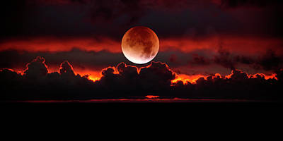 Photograph - Red Moon Rising by Dianna Lynn Walker