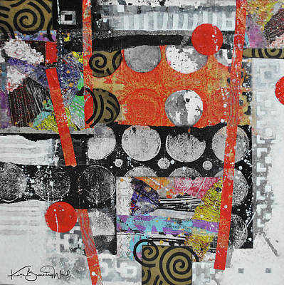Mixed Media - Red Moon Rising by Kate Word