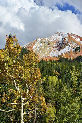 Photograph - Red Mountain Along Million Dollar Highway by Ray Mathis