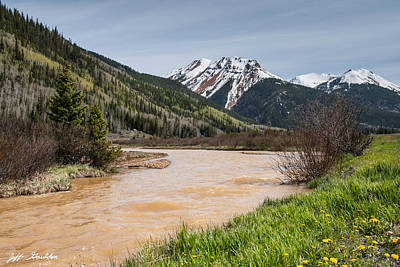 Photograph - Red Mountain And Red Mountain Creek by Jeff Goulden