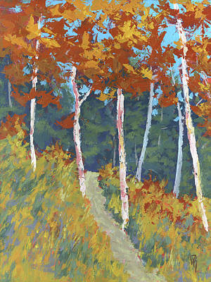 Aspen Tree Painting - Red Mountain Aspens by David King