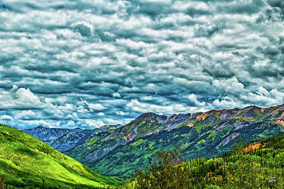 Photograph - Red Mountain Creek Valley On The San Juan Skyway by Gestalt Imagery