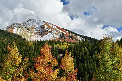 Photograph - Red Mountain Fall Color Aspens by Ray Mathis