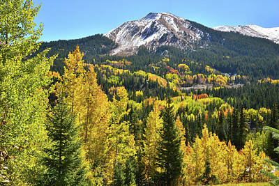 Print featuring the photograph Red Mountain Fall Color by Ray Mathis