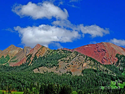Photograph - Red Mountain by George Tuffy