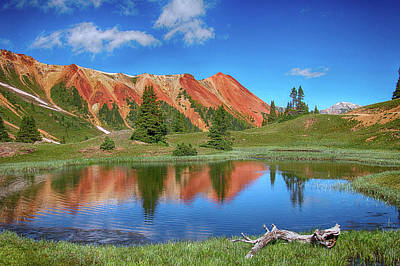 Photograph - Red Mountain-grey Copper Gulch by Marta Alfred