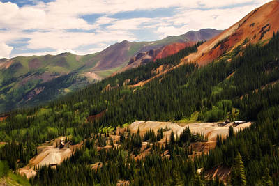 Digital Art - Red Mountain Mining - 550 View by Lana Trussell