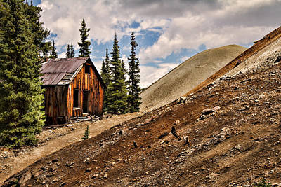 Photograph - Red Mountain Mining Shack by Lana Trussell