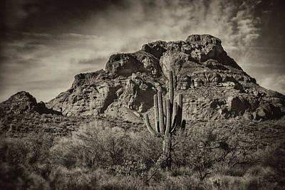 Red Mountain Monochrome  Art Print