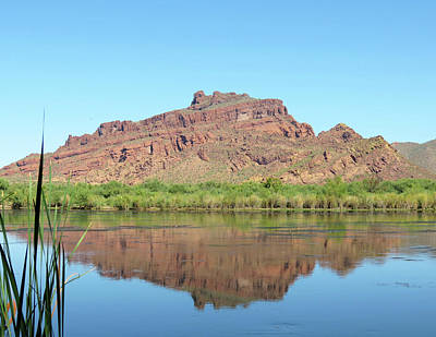 Photograph - Red Mountain Reflection by Laurel Powell