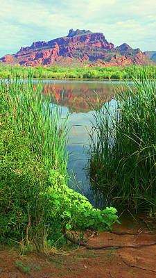 Photograph - Red Mountain @ Salt River by Cheryl Fecht