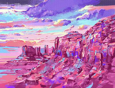 Grand Canyon Digital Art - Red Mountains by Bekim Art