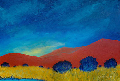 Painting - Red Mountains by Dick Bourgault