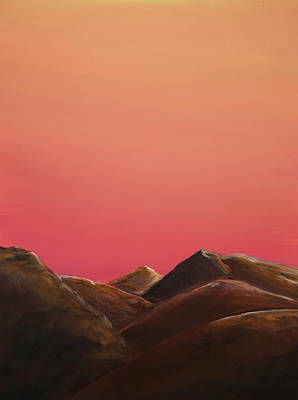 Red Mountains Art Print