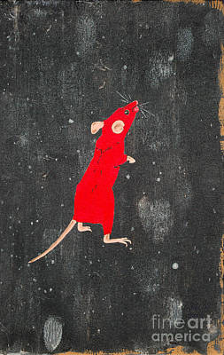 Painting - Red Mouse by Stefanie Forck