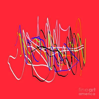 Eliso Digital Art - Red Multicolor by Eliso Ignacio Silva Simancas