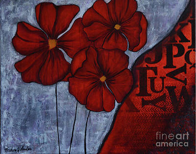 Painting - RED by Nadine J Larder