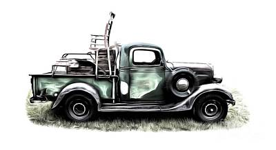 Rural Art Digital Art - Red Neck Moving Day by Edward Fielding