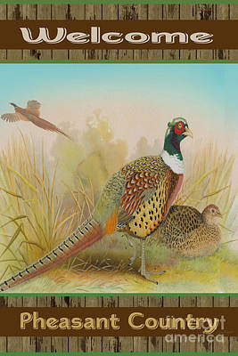 Pheasant Digital Art - Red Necked Pheasant-jp2798 by Jean Plout