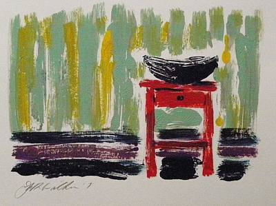 Painting - Red Nightstand by John Williams