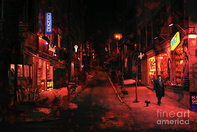 Digital Art - Red Night In Istanbul by John Rizzuto