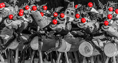 Red Noses. Art Print by Angela Aird
