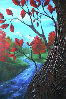 Mixed Media - Red Oak by Angela Stout