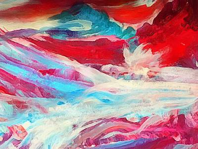 Painting - Red Ocean Abstract by Anne Sands