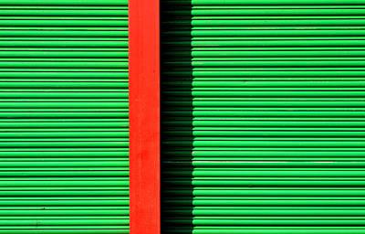 Red On Green Print by Stuart Allen