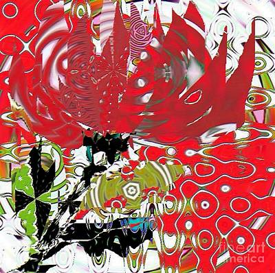 Painting - Red On White Flower by Navo Art