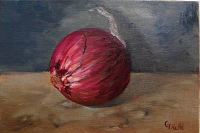 Painting - Red Onion by Grace Diehl